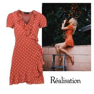 Realisation Par Valentina Rust Spot Dress